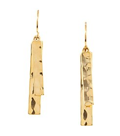 Lauren Ralph Lauren Goldtone Downtown Chic Double Drop Earrings