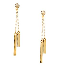 Lauren Ralph Lauren Goldtone Downtown Chic Bar With Chain Earrings