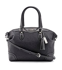 Calvin Klein Two Tone Monogram Satchel