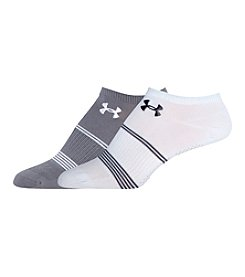 Under Armour® 2-Pack Grippy No Show Socks