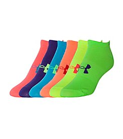 Under Armour® 6-Pack Liner No Show Socks