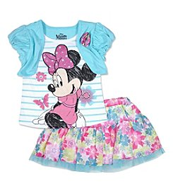 Nannette® Baby Girls' 2-Piece Minnie Skort Outfit Set