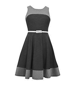 Bonnie Jean® Girls' 7-16 Belted Fit And Flare Dress