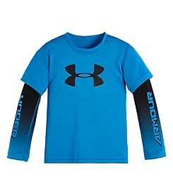 Under Armour® Boys' 2T-7 Long Sleeve Logo Layered Top