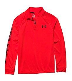 Under Armour® Boys' 8-20 Logo Sleeve Quarter Zip Pullover