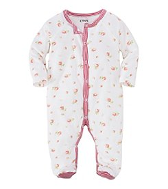 Chaps® Baby Girls' Newborn-9M Floral Print Coverall