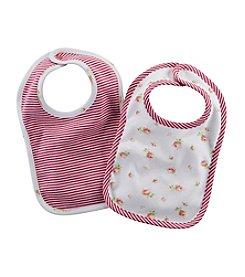 Chaps® Baby Girls' 2-Pack Printed Bib Set