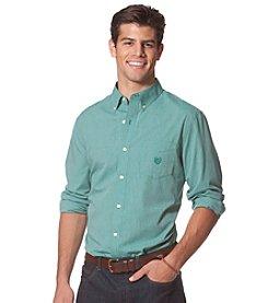 Chaps® Men's Long Sleeve Checked Poplin Button Down Shirt