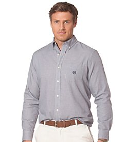 Chaps® Men's Long Sleeve Houdstooth Button Down Shirt