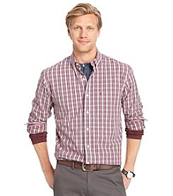 Izod® Men's Long Sleeve Plaid Button Down Shirt