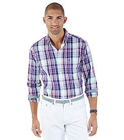 Nautica® Men's Long Sleeve Medium Plaid Button Down
