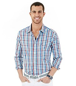 Nautica® Men's Long Sleeve Plaid Button Down