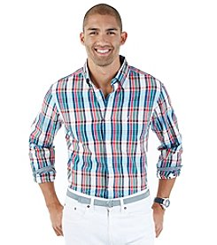 Nautica® Men's Long Sleeve Large Plaid Button Down