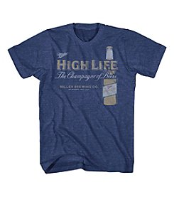 Mad Engine Men's Short Sleeve Miller High Life Graphic Tee