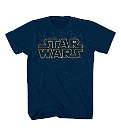 Mad Engine Men's Short Sleeve Star Wars Title Graphic Tee