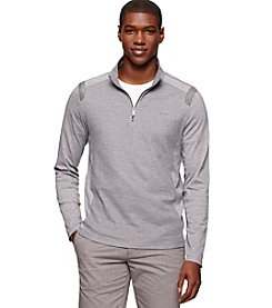 Calvin Klein Men's Textured 1/4 Zip Long Sleeve Pullover