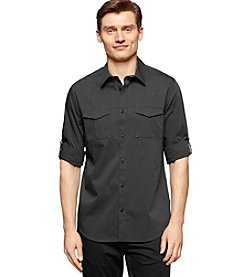 Calvin Klein Men's Long Sleeve End On End Button Down Shirt