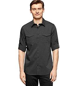 Calvin Klein Men's Long Sleeve End On End Button Down Shirt