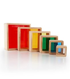 Guidecraft® Stacking Rainbow Pyramid Blocks