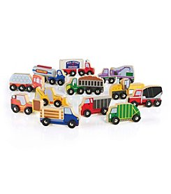 Guidecraft® 12-Piece Wooden Truck Collection