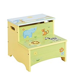 Guidecraft®   Savanna Smiles Step Up Storage Stool