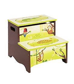Guidecraft®   Jungle Party Step Up Storage Stool