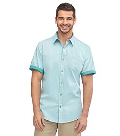Weatherproof Vintage Men's Short Sleeve Cotton Button Down