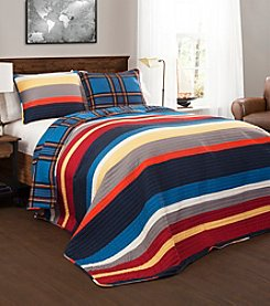 Lush Decor Cliveden Stripe 3-pc. Quilt Set