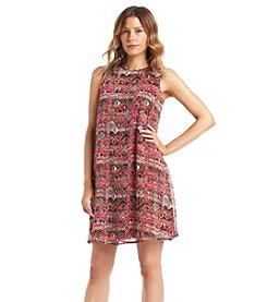 Gabby Skye® Chiffon Trapeze Dress