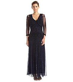 Pisarro Nights Paisley Beaded Jacket Gown
