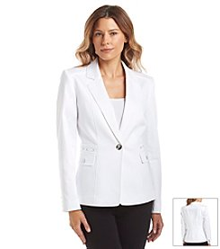 Tahari by Arthur S. Levine® One Button Notch Collar Jacket