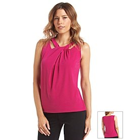 Nine West® Cut Out Twist Front Knit Cami