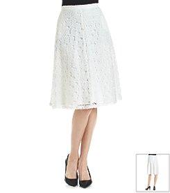 Calvin Klein Lace Overlay Midi Skirt