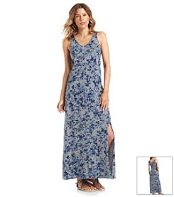 DKNY JEANS® Star Floral Printed Maxi Dress