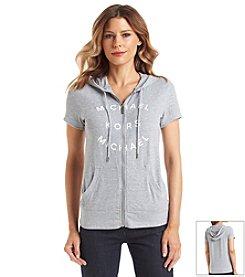MICHAEL Michael Kors® Zip Up Logo Hoodie