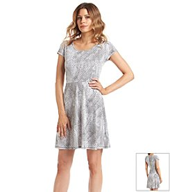 MICHAEL Michael Kors® Serpent Print Flare Dress