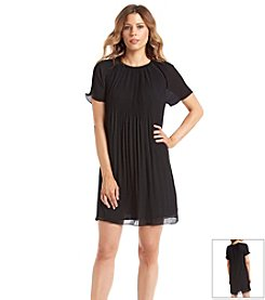 MICHAEL Michael Kors® Short Sleeve Pleat Dress