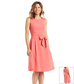 Anne Klein® Solid Textured Sleeveless Dress
