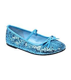 Blue Sequin Girl's Ballet Flat