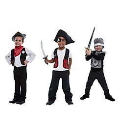 3-in-1 Dress Up Roleplay Set: Cowboy, Knight & Sheriff