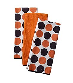 Ritz™ Halloween Polka Dot 3-pk. Kitchen Towels