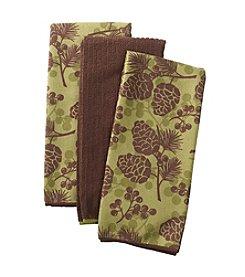 Ritz™ Nature Pinecone 3-pk. Kitchen Towels