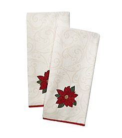 Ritz® Holiday Song Poinsettia 2-pk. Kitchen Towels