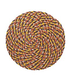 LivingQuarters Braided Harvest Round Placemat