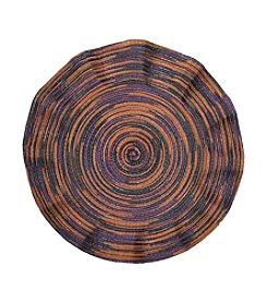 LivingQuarters Heathered Halloween Round Placemat