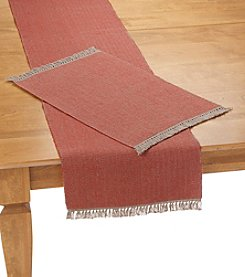 Ruff Hewn Red Fringe Table Linens