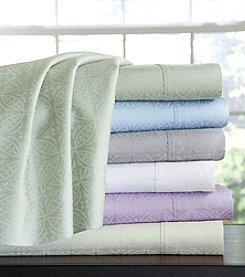 Pointehaven 300-Thread Count Printed Cotton Sheet Set