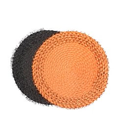 LivingQuarters Furry Round Placemats