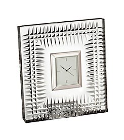 Waterford® Lismore Diamond Pattern Bedside Clock