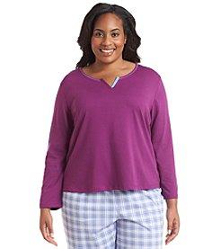 KN Karen Neuburger Plus Size Long Sleeve Lounge Top